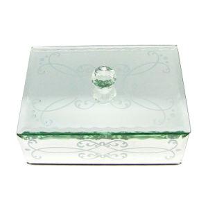 الصين بالجملة فضة مرآة مجوهرات يعبّئ صندوق لأنّ [ودّينغ جفت]
