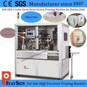A SAP-102s Tela Tipo Servo Automático máquina de impressão para garrafas de vidro