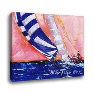 Het Olieverfschilderij van het landschap - Jacht (DG075)