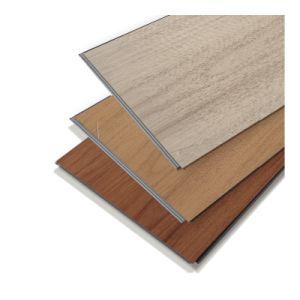 La pierre artificielle de base en plastique Cliquez sur le bois de la Texture planche de revêtement de sol en vinyle SPC