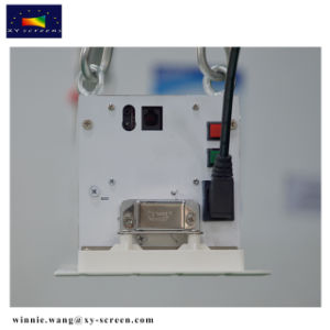 Xy экранов 80-дюймовый черный 16: 9 кристально Alr механизированного проекционного экрана для уд/UHD проектор