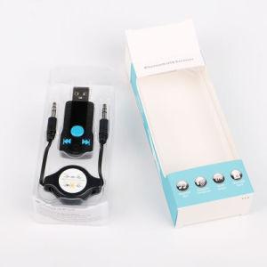 Nuevo receptor USB Bluetooth Music Receiver llamadas manos libres coche Bluetooth Transmisión de 3,5 mm Car Aux A2DP.