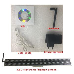 P7.62-8X80 de la ventana de monocromo Publicidad Bluetooth del teléfono móvil GSM SMS (SMS) ordenador USB Control Remoto de plata de la pantalla de la barra de LED blanco