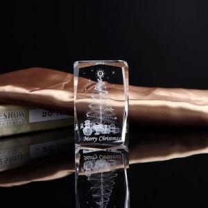Cubo de cristal esculpida de moda para decoração
