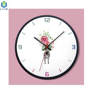 Reloj de pared de la moda de metal creativo con UV impresos para la decoración del hogar