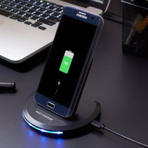 Cargador rápido de la bobina de 2-Qi Wireless de la estación de carga rápida para el iPhone 8 iPhone X// Nota 8/S8