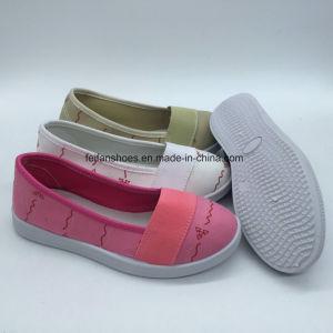 Los niños nuevos zapatos de lona de inyección transpirable zapatos de ocio (ZL0425-1)