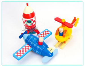 Novo Plano magnético de madeira de moda/Helicópteros/foguetes contra o transporte de madeira de brinquedos brinquedos educativos DIY conjunto para criança Centro Espacial de descoberta de brinquedos educativos