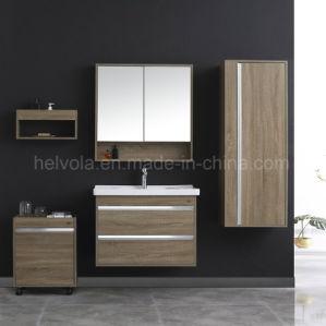 Gesundheitlicher Ware-Badezimmer-Bassin-Zubehör-Schrank-festes Holz-Badezimmer-Möbel-festes Holz Kurbelgehäuse-BelüftungMDF mit Spiegel-Edelstahl-Badezimmer-Eitelkeit 32