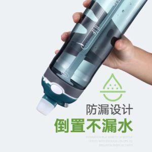 580ml Tritan BPA geben Sport-Wasser-Flasche mit Silikon-Stroh frei