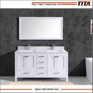 Caliente la venta de madera maciza gabinete de vanidades de baño moderno T9199-48W