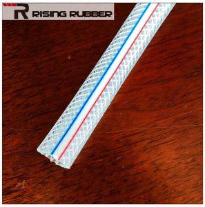 Transparente de PVC flexível de borracha trançado têxtil flexível