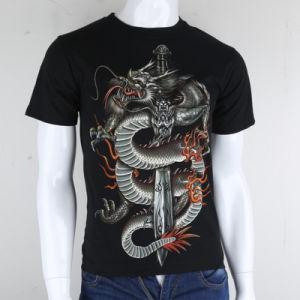 2019 100% algodão Customized 3D T-shirt impresso para homens