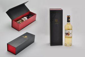 Bottiglia di vetro del MDF dell'OEM/documento di lusso di legno del vino, contenitore di regalo impaccante