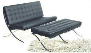 كلاسيكيّة أثاث لازم نسخة برشلونة أريكة كرسي تثبيت مع [ستينلسّ ستيل فرم]