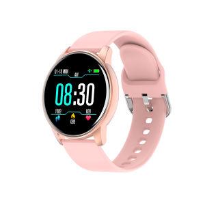 Venta caliente Reloj inteligente W17 Pantalla táctil de la Ronda Smartwatch la Frecuencia Cardíaca de Gimnasia Deportes de moda inteligente Tracker ver