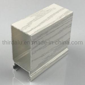Recubierto de polvo de aluminio anodizado/ganancia de madera Perfil extrusiones de aluminio con ventana y puerta/aluminio fabricante para la construcción e industrial