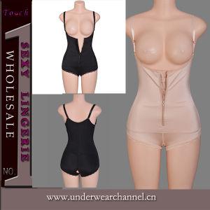 Le latex sexy pleine de sueur Formateur en néoprène Lingerie Body Shaper Slimming Body (TLQ1595)