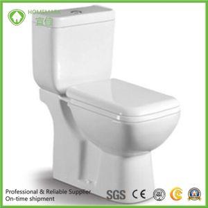 Квадратный дизайн две части влаги туалет туалет для ванной комнаты