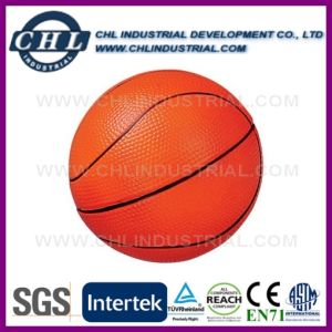 En71 de poliuretano con certificación de 6.3cm de diámetro estilo juguete bola antiestrés
