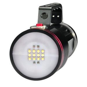 120広いビーム角のクリー族L2 LEDの飛び込みのビデオランプは100m 6500 Lmを防水する