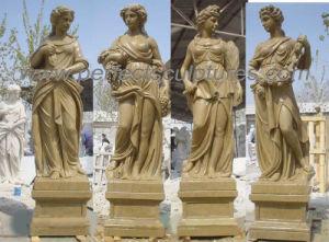 Het snijden van Standbeeld van het Beeldhouwwerk van de Steen het Marmeren voor de Decoratie van de Tuin (sy-X1760)