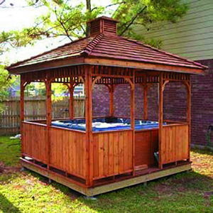 Hete Verkoop Duurzame Wooden Gazebo Outdoor SPA Gazebo (SR895)