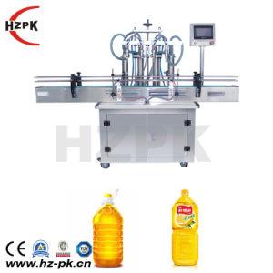 Hzpk 4 Jefes Juce automático de llenado de botellas de agua Máquina de embalaje