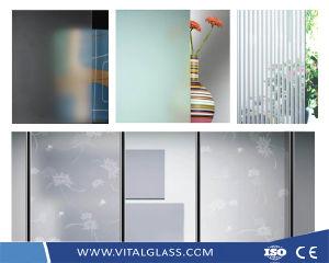 Imaginé Wired Patrón/grabado ácido/chorreo de arena o la decoración/ducha templada de vacío/Puerta/Ventana/hoja bloque de vidrio ladrillo de vidrio