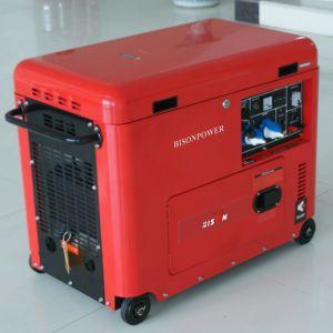 Bison (Chine) BS6500dsec 5kw 5kVA Air-Cooled 5000W Fil de cuivre de 1 an garanties générateur diesel marin portable en mode silencieux