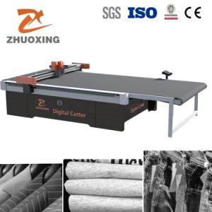 China melhor pano CNC Automático máquina de corte de têxteis de couro de tecidos para vestuário Vestuário Plotter de corte padrão de material de corte com marcação preço de fábrica
