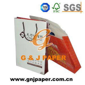 Bon marché d'impression de marque personnalisée Brown Sac shopping de papier de luxe avec logo