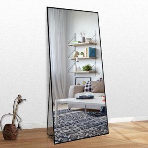 Custom Long Silver Barber Miroir de salle de bains avec étagère