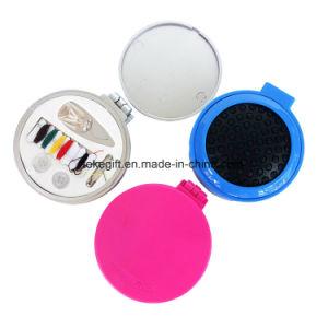 Dobragem multifuncional Lastic Escova de Cabelo com kits de costura e espelho