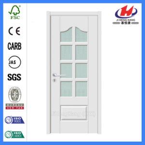Madera Awing interno de vidrio blanco puertas francesas (JHK-G28).