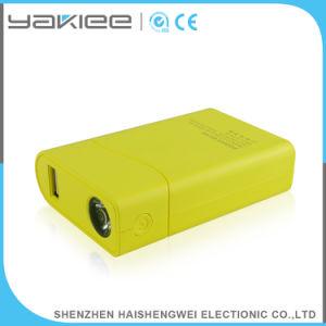 Polímero de litio de 6000mAh batería externa portátil móvil con brillantes Linterna