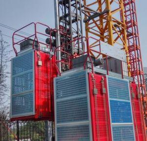 Sc200/200 строительство элеватора соломы 2t/2t дважды клеток здание подъемника
