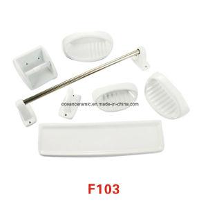 F107 Jabonera de cerámica, papel higiénico Titular, accesorios de baño