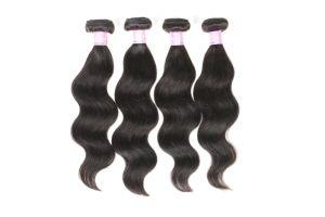 5Uma onda Natual de extensão de cabelo preto Natural Virgem não transformados Tecelagem de cabelo Brasileiro