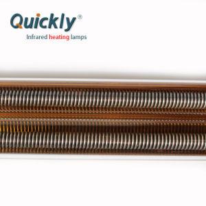 O tubo de quartzo, lâmpadas de aquecimento infravermelho de onda média para o couro Gofragem