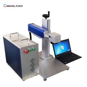 De Laser die van de Kleur van Co2 van de Luchtkoeling Machine voor Het Leer van het Flessenglas merkt