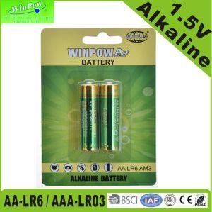TVリモート・コントロール1.5V AA Lr6 AAA Lr03のアルカリ乾燥したセル電池