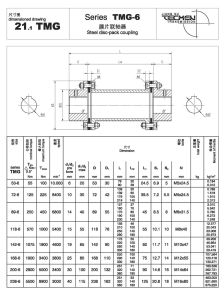 Tmg Series Steel Disc Pack Coupling 21.1tmg 118-6