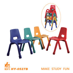 Moderner bunter und stapelbarer Form-Stuhl für Kindergarten-Schule