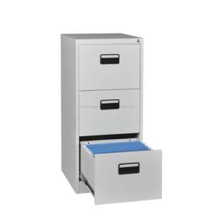 Bom mobiliário de escritório 3 gaveta mesa de cabeceira segura de Metal Use trava com chave de armazenamento de aço armário de arquivos