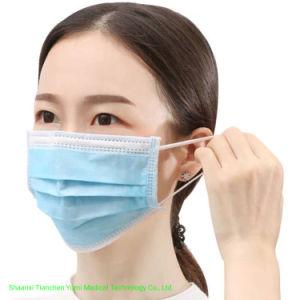 Máscara descartável com três camadas Máscara facial Médico Cirúrgica fornece