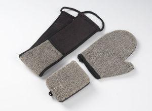 Alça longa de malha de nylon esponjas de banho Net lufa para o corpo