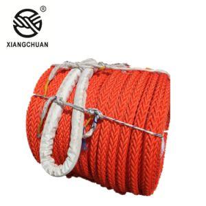 Un'alta qualità dei 12 fili ed alta corda di rimorchio di resistenza alla rottura UHMWPE con il certificato di RS Rmrs