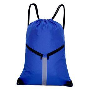 47251b3366d3a El deporte de gran capacidad Cordón Mochila Sling Bolsa de viaje  reflectante con cremallera bolsillos