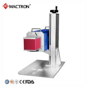 Prix bon marché no 10W air de refroidissement de la Caisse de machine de marquage au laser pour le cuir ou en plastique